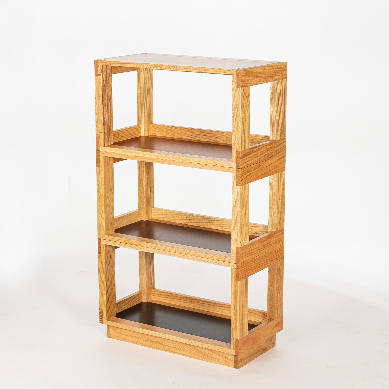 3 Oak Eleganza Shelves with Base
