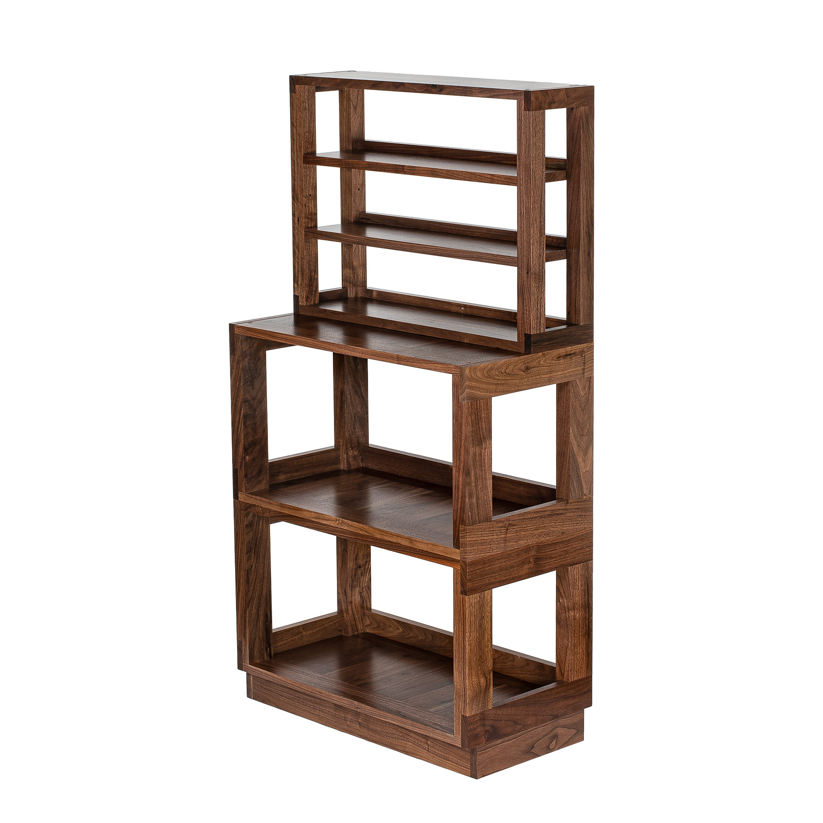 Walnut Multilevel Shelf