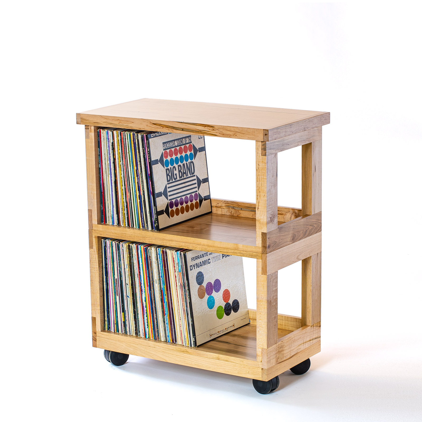 Maple Heirloom Record Cart