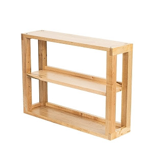 Ambrosia Maple 2-Tier Media Shelves