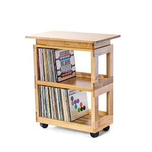 Maple Heirloom LP Cart with Pedestal Top