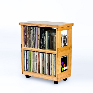Oak Heirloom Record Cart