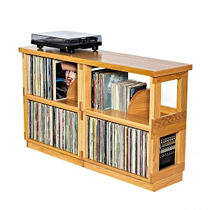 Double Wide Oak Heirloom LP Shelf