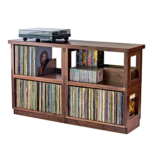 Double Wide Walnut Heirloom LP Shelf