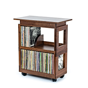 Walnut Heirloom Record Cart