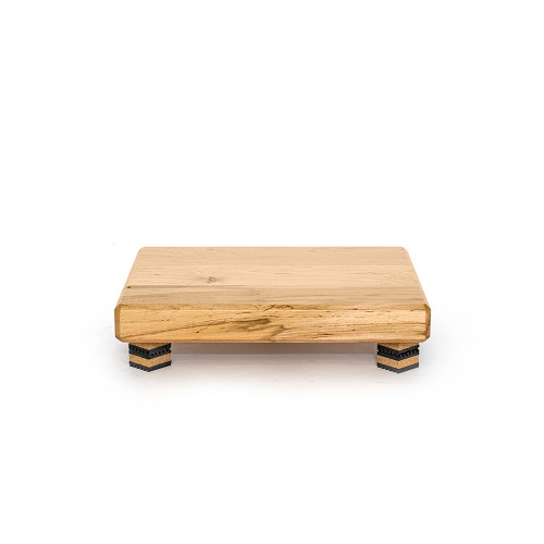 "15""x12""x2"" air-dried Ambrosia maple platform with clear satin finish; supported by Isoblock 1s"