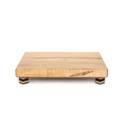 "20""x17""x2"" air-dried Ambrosia maple platform with clear satin finish; supported by Isoblock 1s"