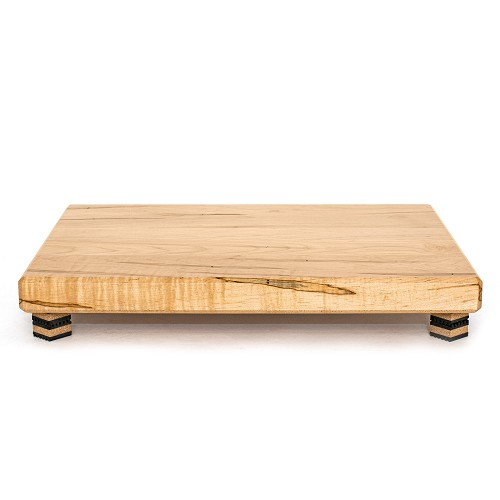 "24""x18""x2"" air-dried Ambrosia maple platform with clear satin finish; supported by Isoblock 1s"