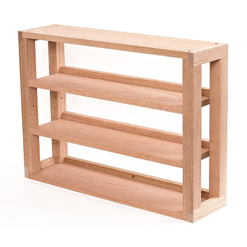 Unfinished Oak 3-Tier Media Shelves